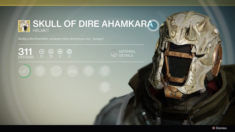 Skull of dire ahamkara comes with following upgrades and features