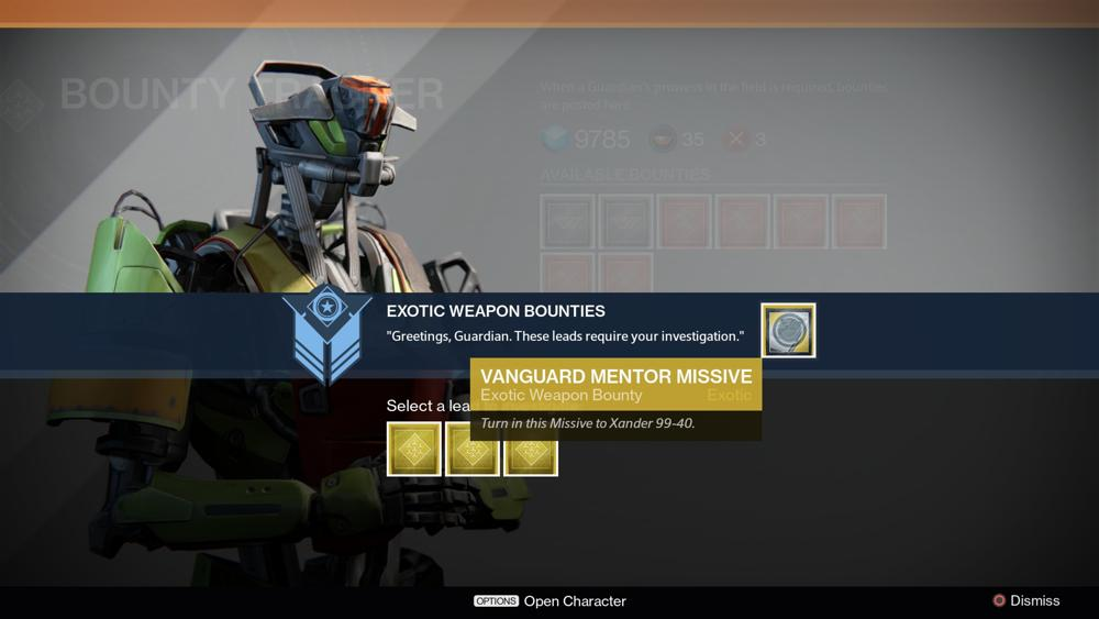 Destiny: Facts you should know to about Bounties and Tracker
