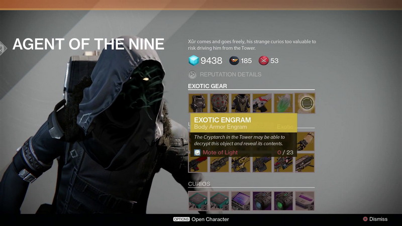 Exotic items for week 31 xur s location amp other details updated