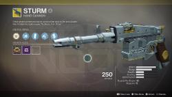 Destiny 2 Sturm Exotic Hand Cannon
