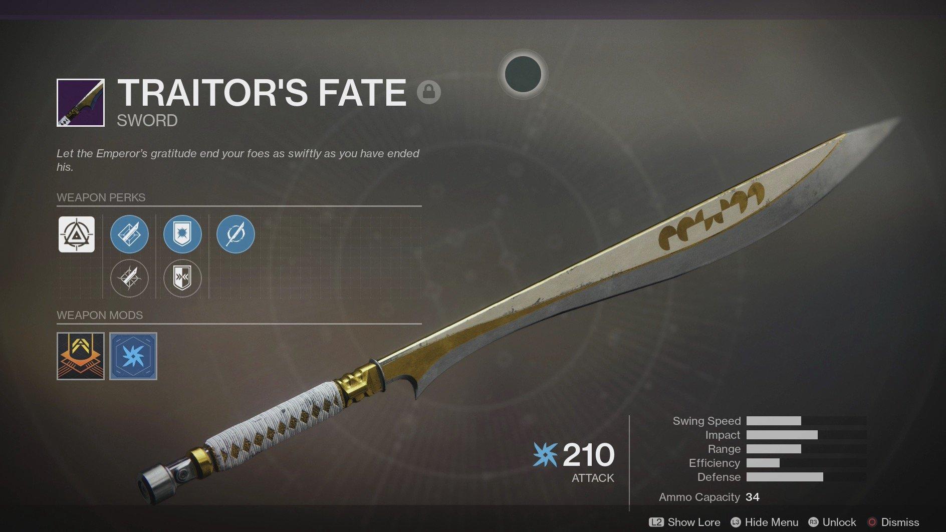 destiny which sword