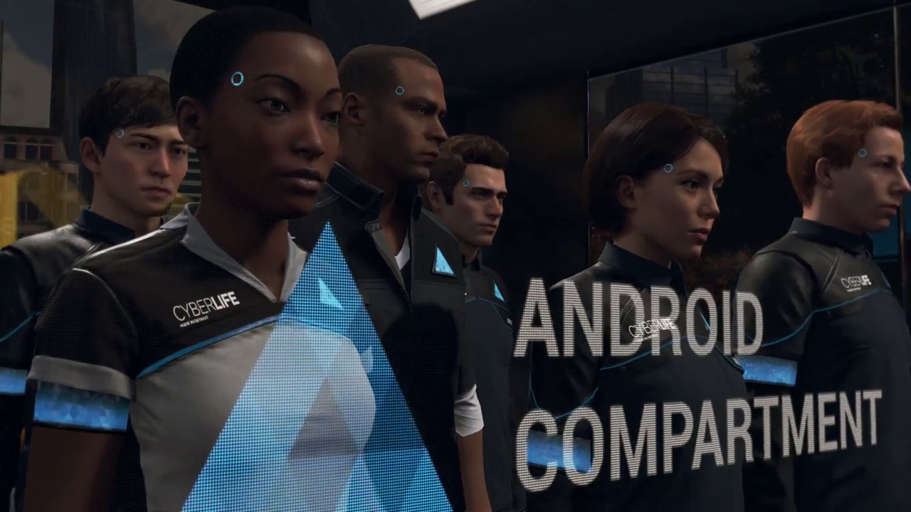 Image result for androids back of bus detroit become human