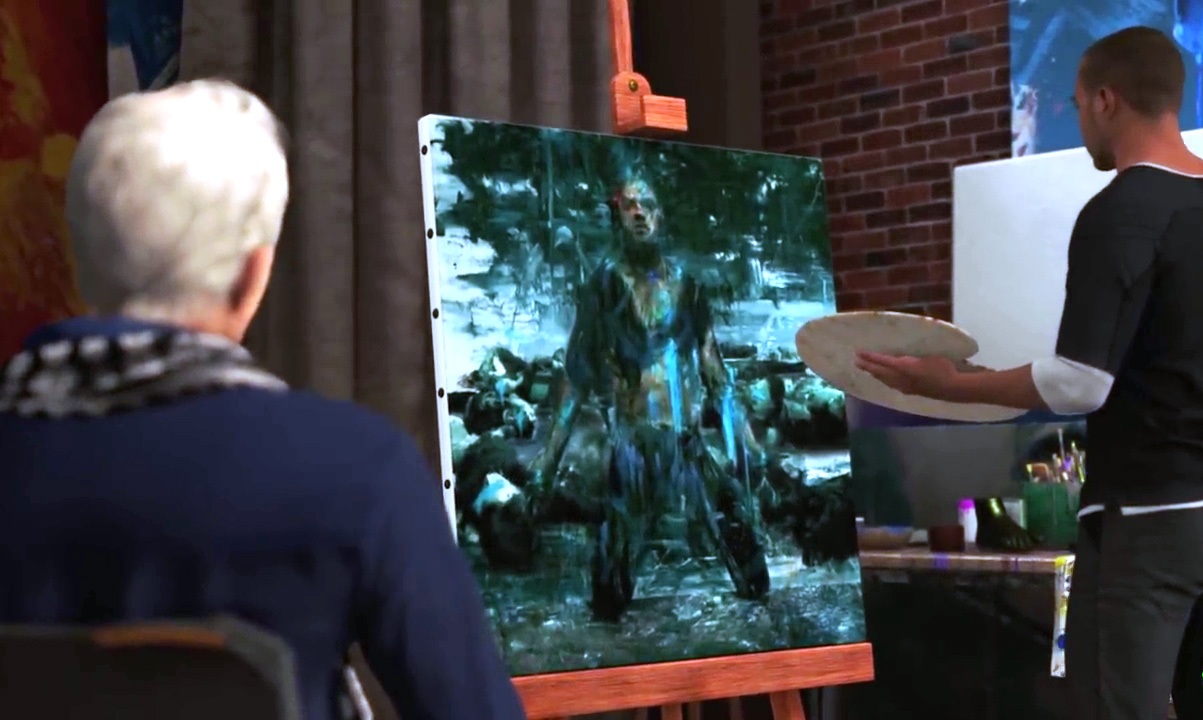 Detroit: Become Human Markus Paintings