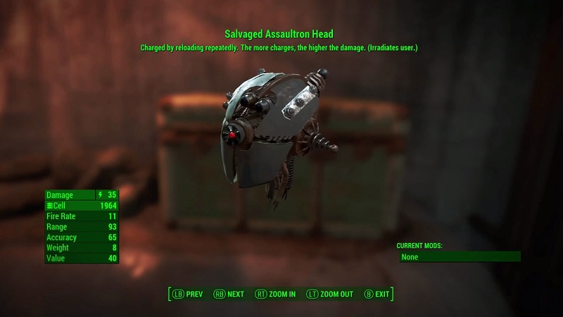 fallout 4 dlc assaultron head blade and mr handy buzz. Black Bedroom Furniture Sets. Home Design Ideas