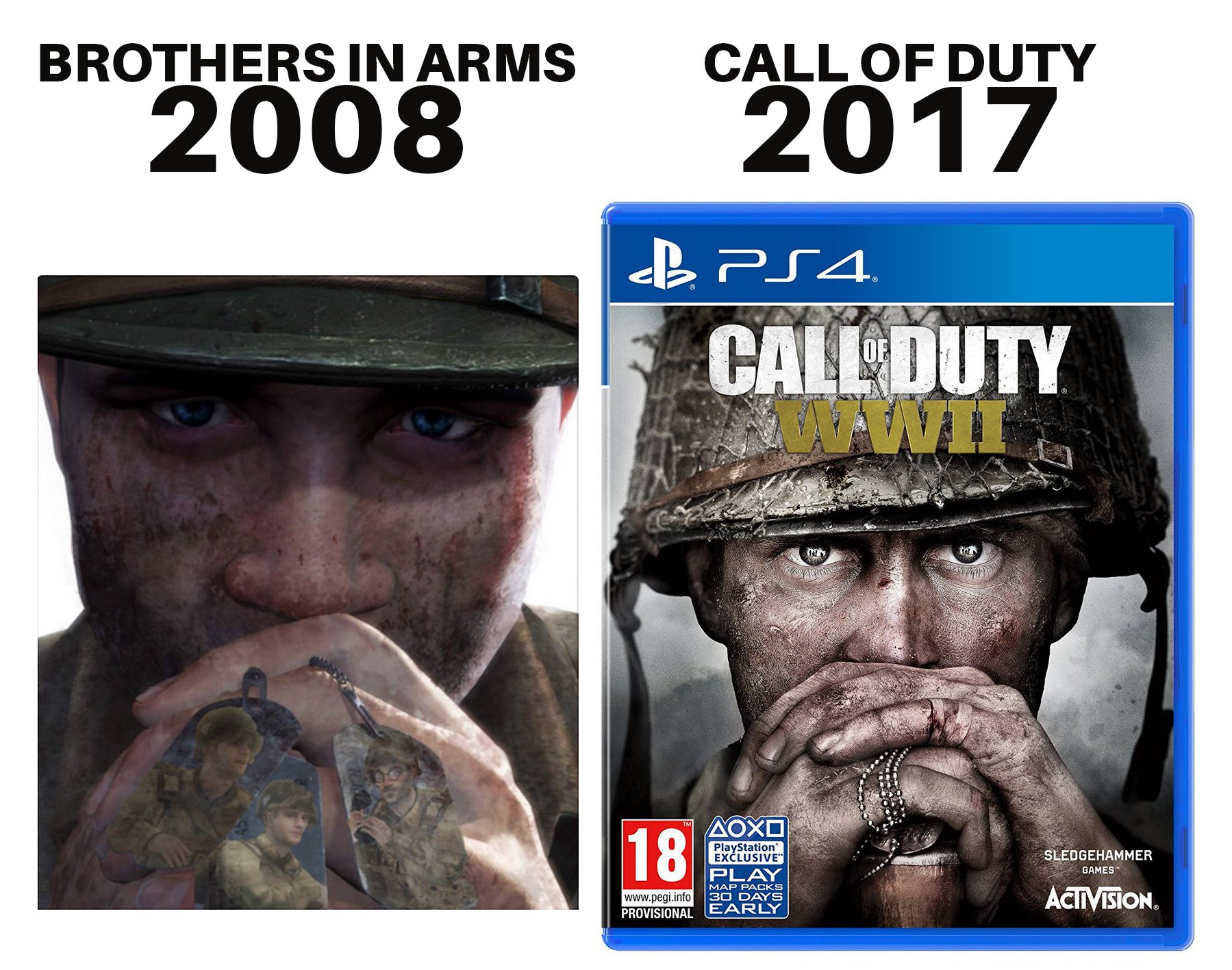 Call of Duty: WWII Art Copied