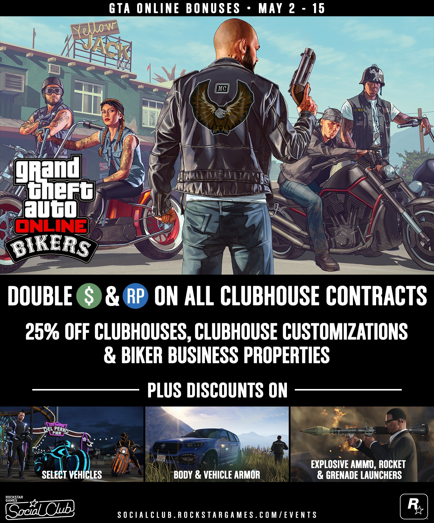 GTA V: More Discount And Double $GTA Starting May First Week