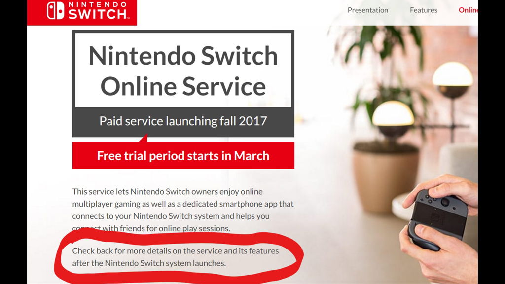 Nintendo Switch Online Information Coming After Switch Launch
