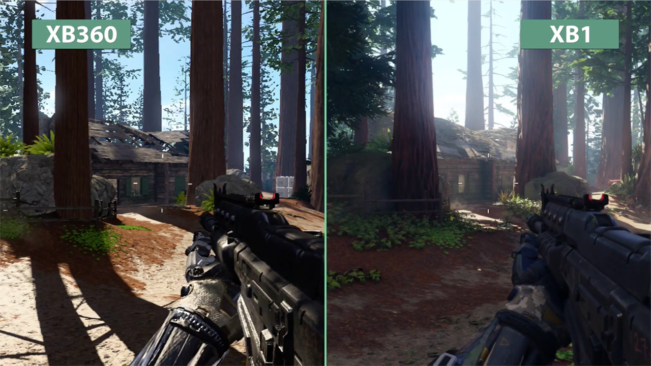 Xbox One Vs Xbox 360 Graphics Side By Side Call of Duty: Black Op...