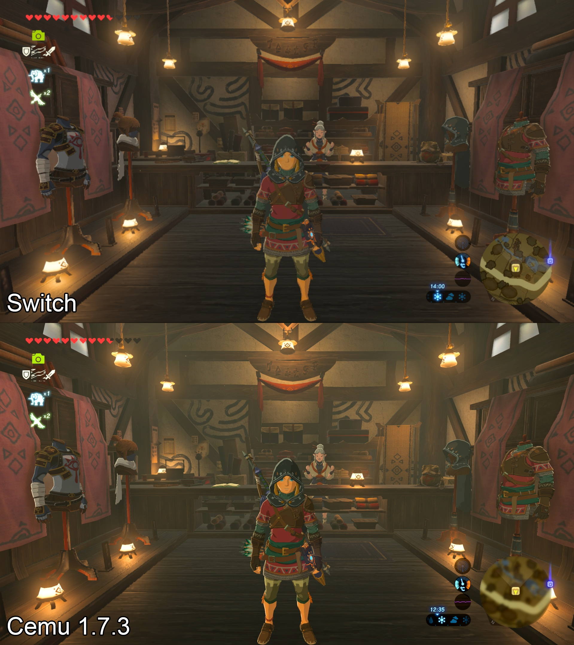 Zelda: Breath of the Wild PC vs Nintendo Switch Comparison