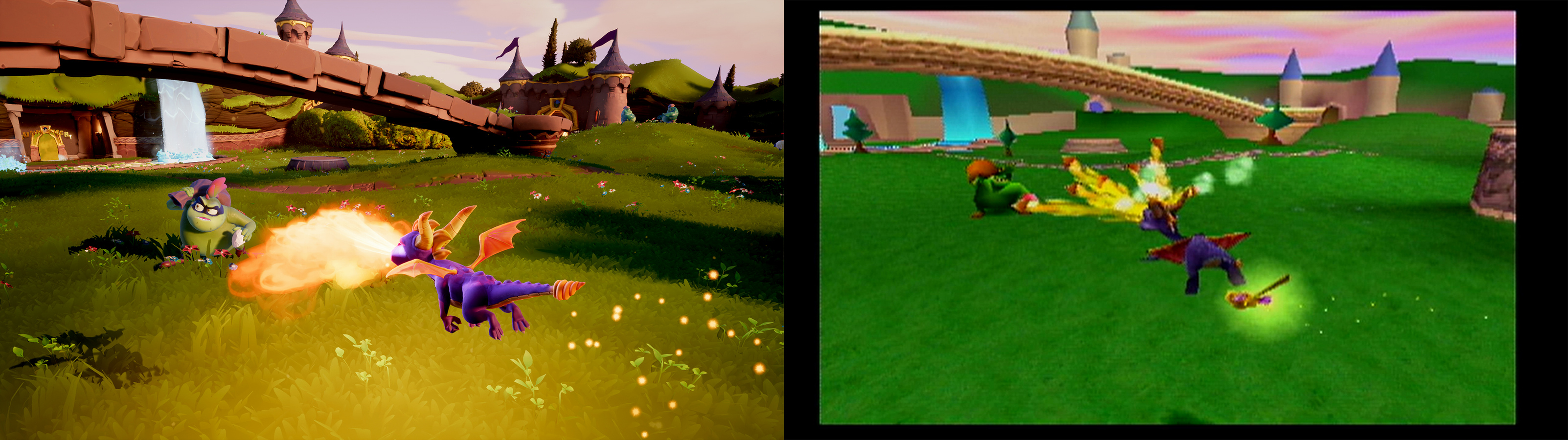 Image result for spyro reignited vs original