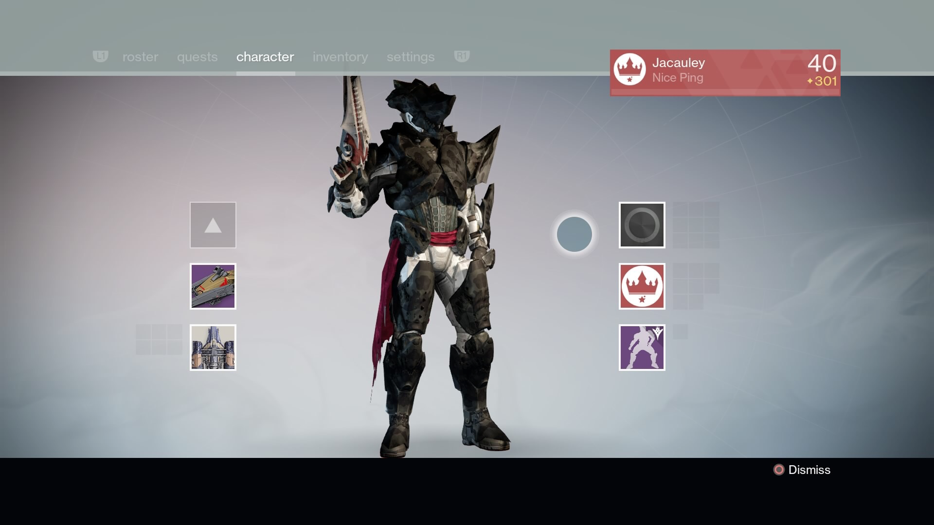 Shares images of titan raid gear received from destiny s fall raid