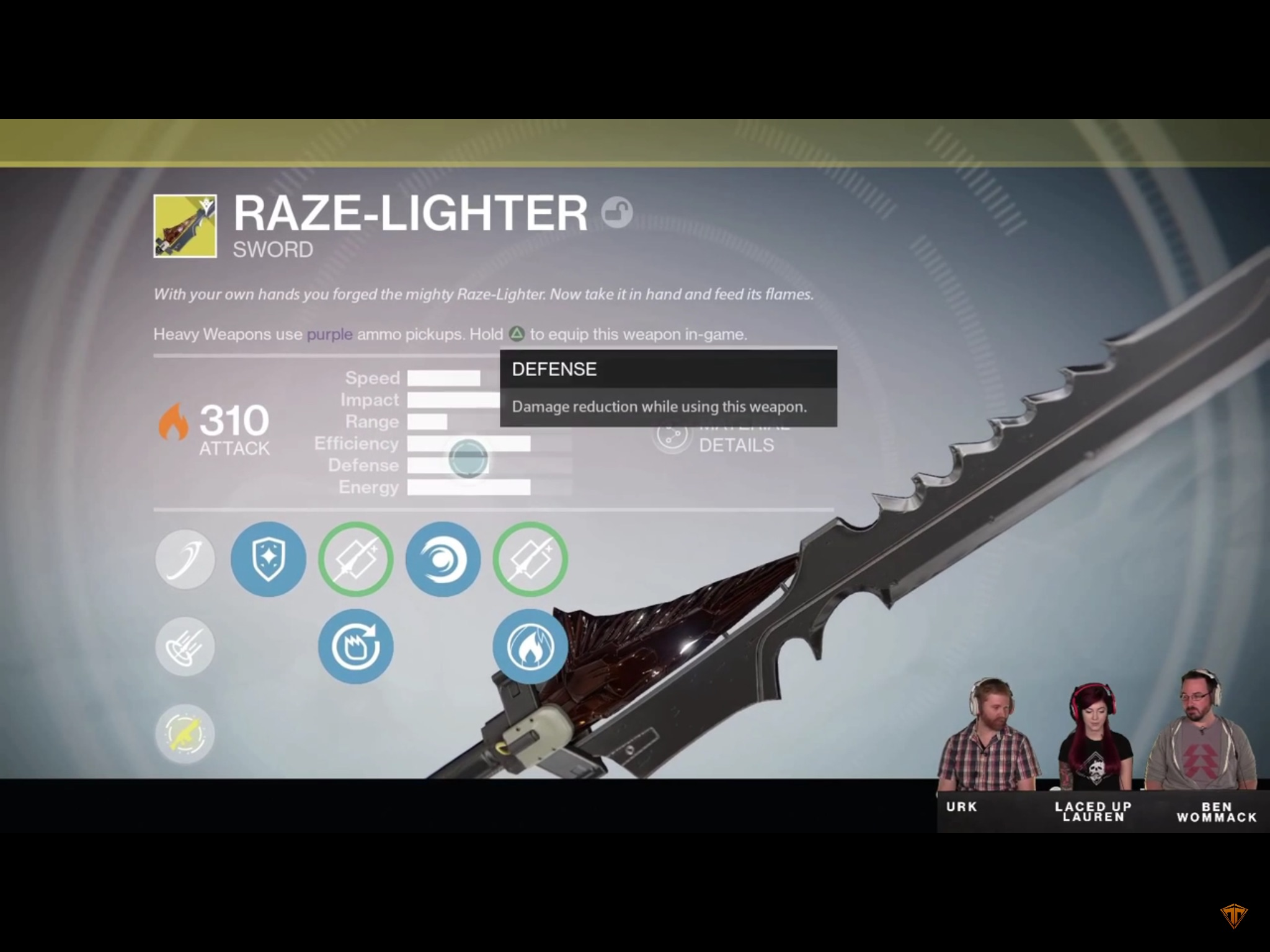 destiny  the taken king exotic sword  stats  meaning and
