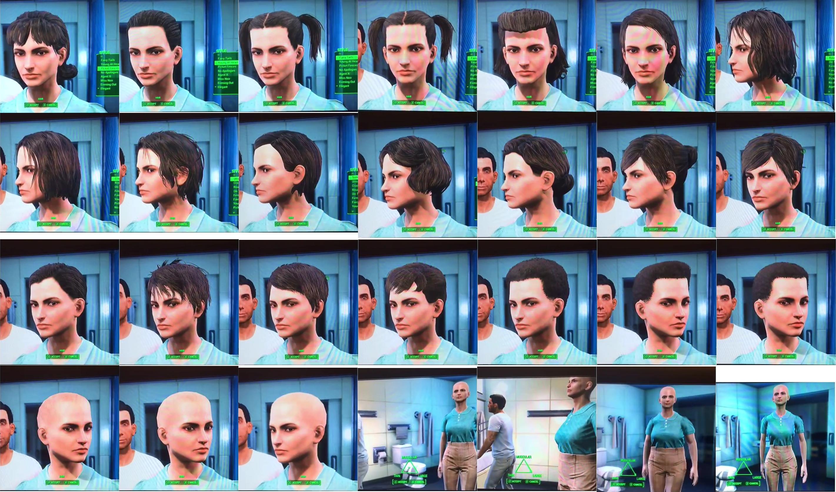 Fallout 4 List Of All Hair And Beard Customization Options For Male