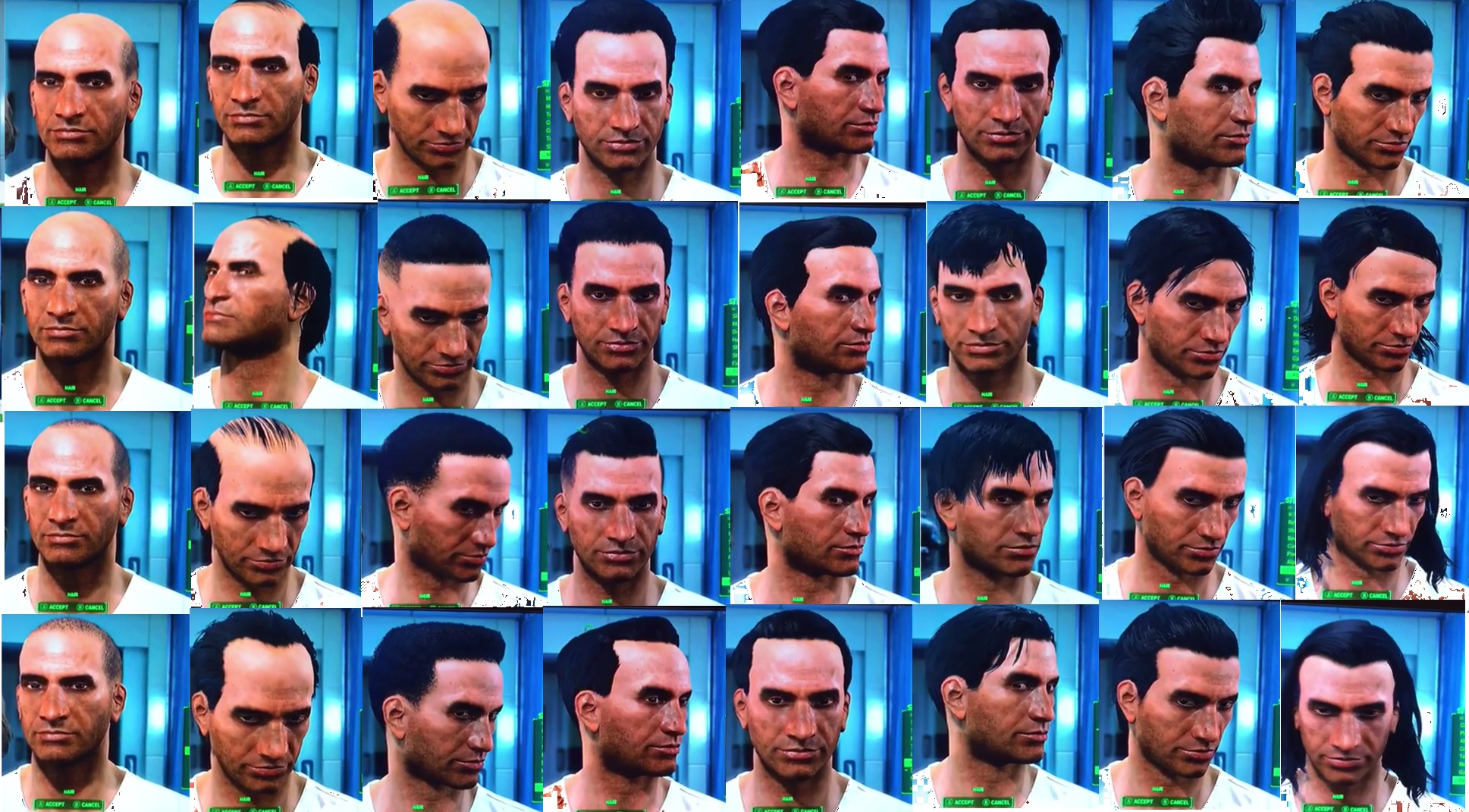 Fallout 4 List Of All Hair And Beard Customization
