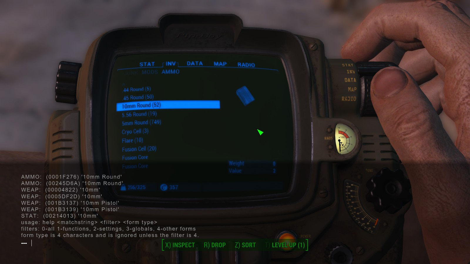 Fallout 4 guide on how to get item id codes in game fallout 4 in game item id screenshot 2 solutioingenieria Image collections