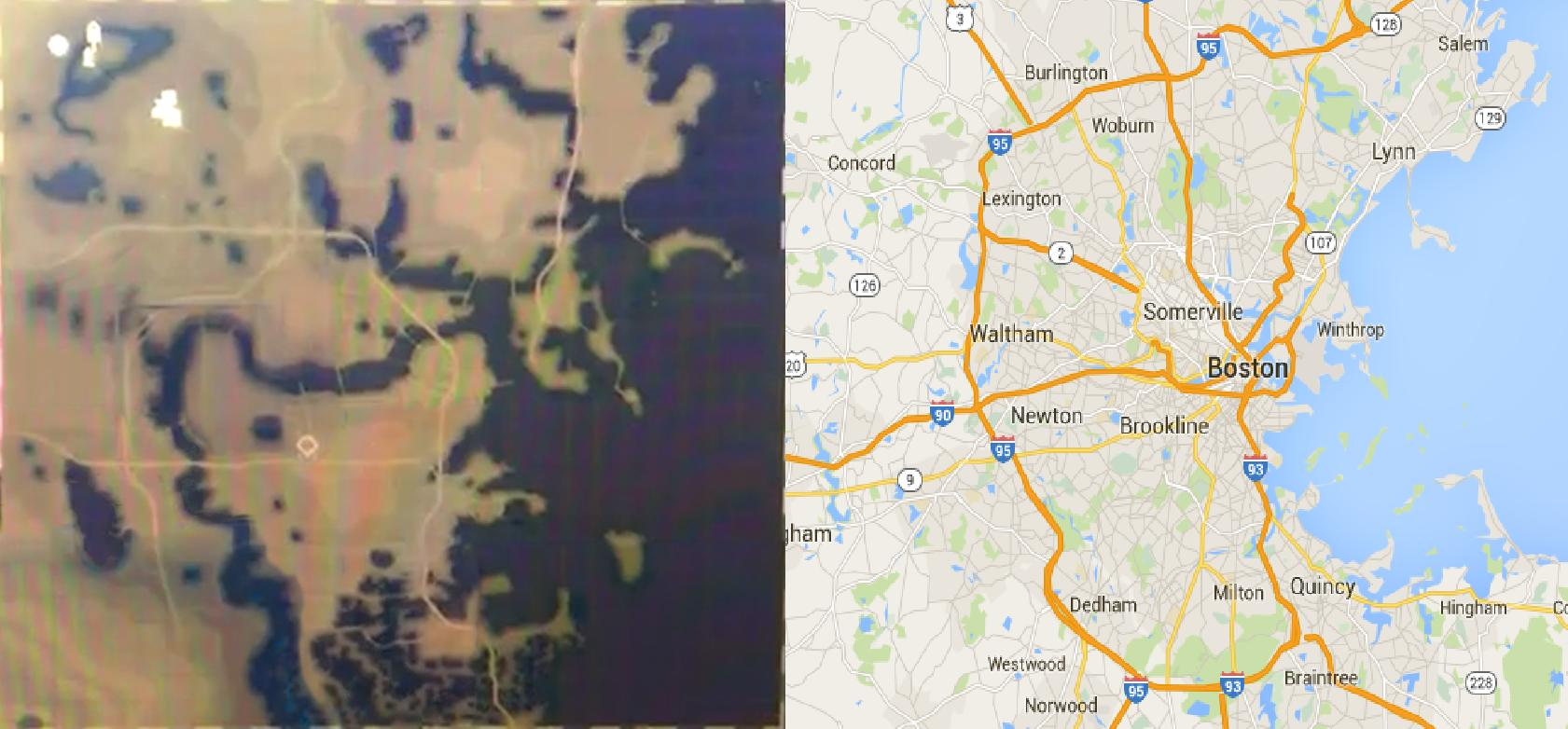 Fallout 4 Map vs Real Life Boston City Map Comparison Shows Scale Approximat