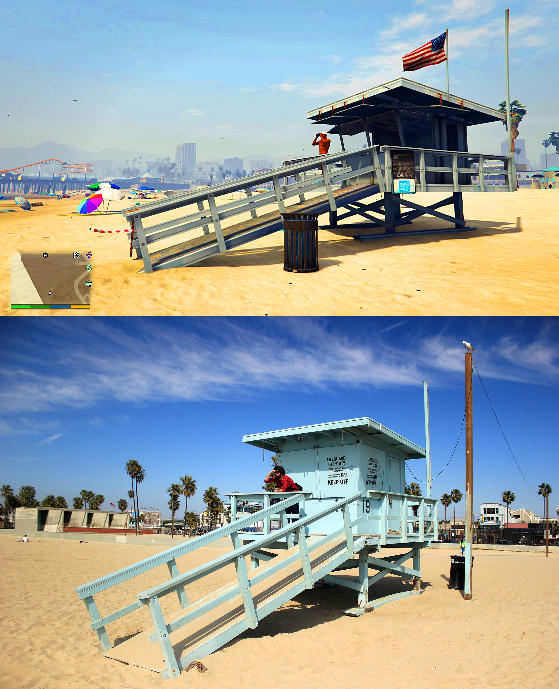 GTA V Los Santos Vs Real Life Los Angeles Comparison