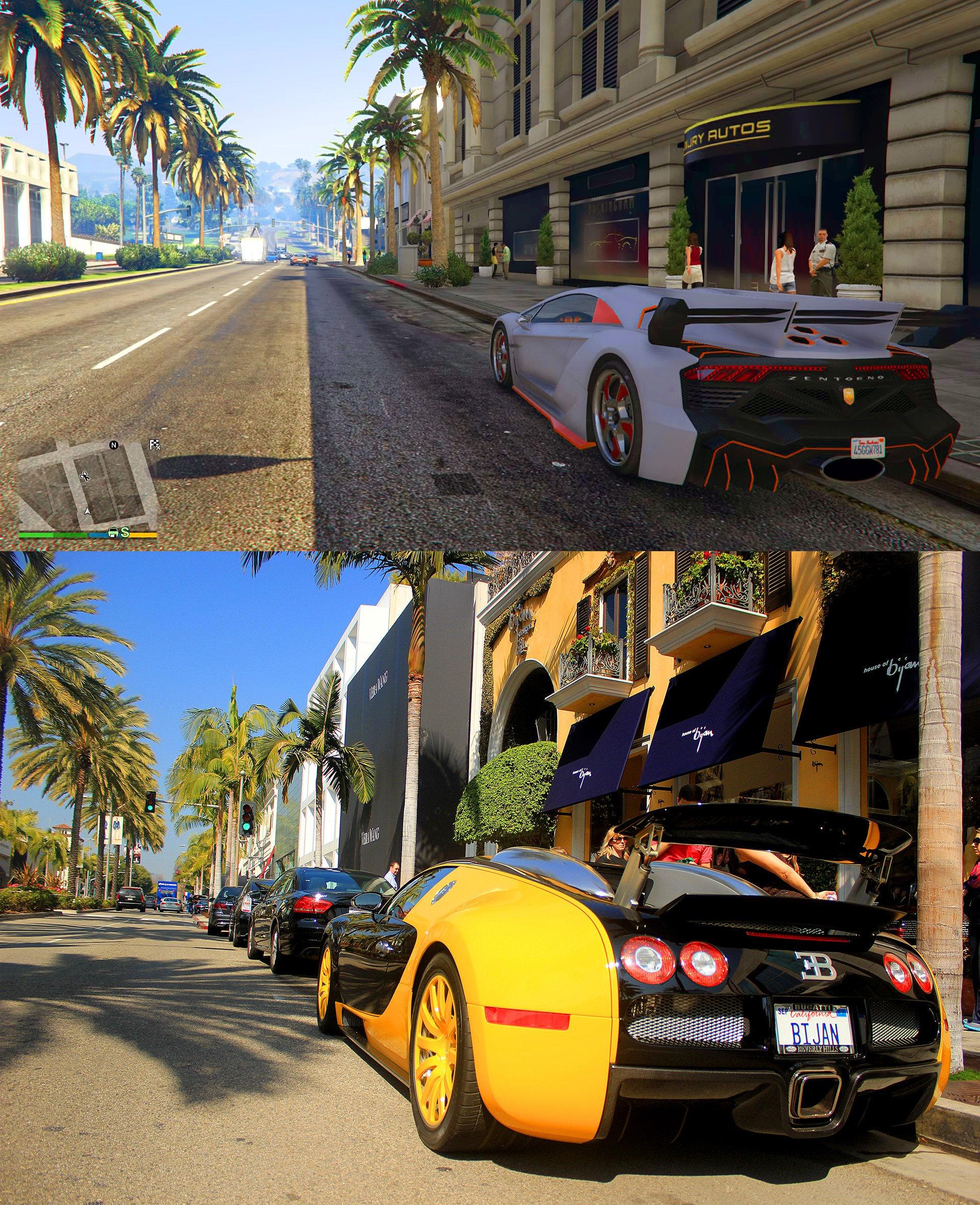 Gta V Los Santos Vs Real Life Los Angeles Comparison