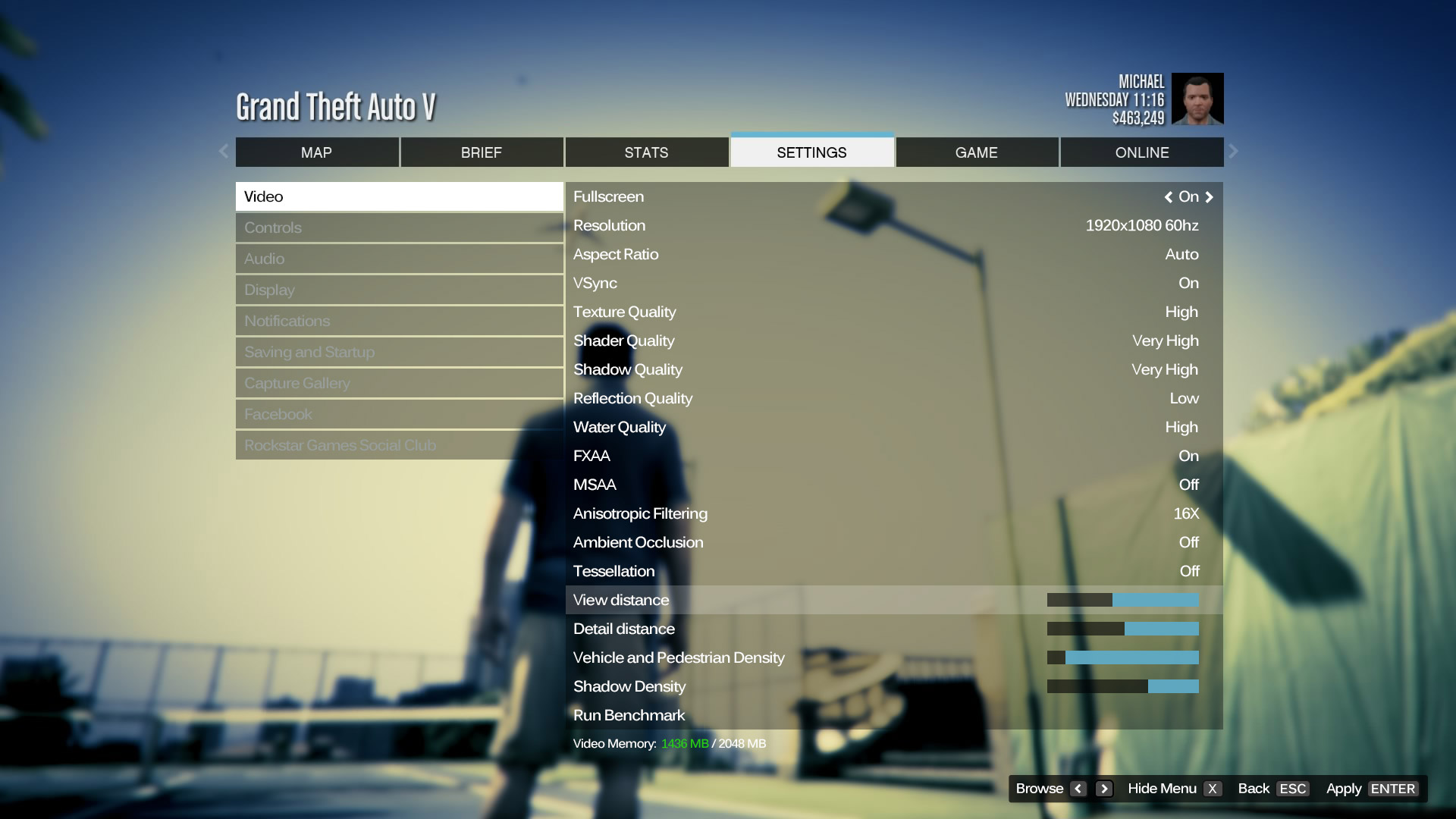 Leaked GTA V PC Screenshot Showing Graphics Option Confirmed