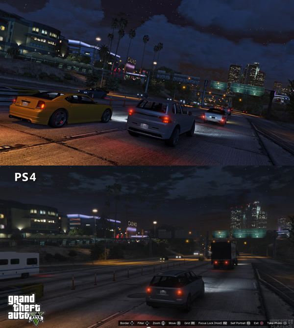 GTA V PC vs PS4 Compar... Xbox One Vs Ps4 Graphics Gta V