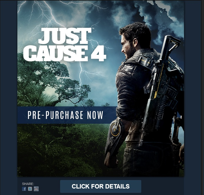 Just Cause 4 Pre-order Page