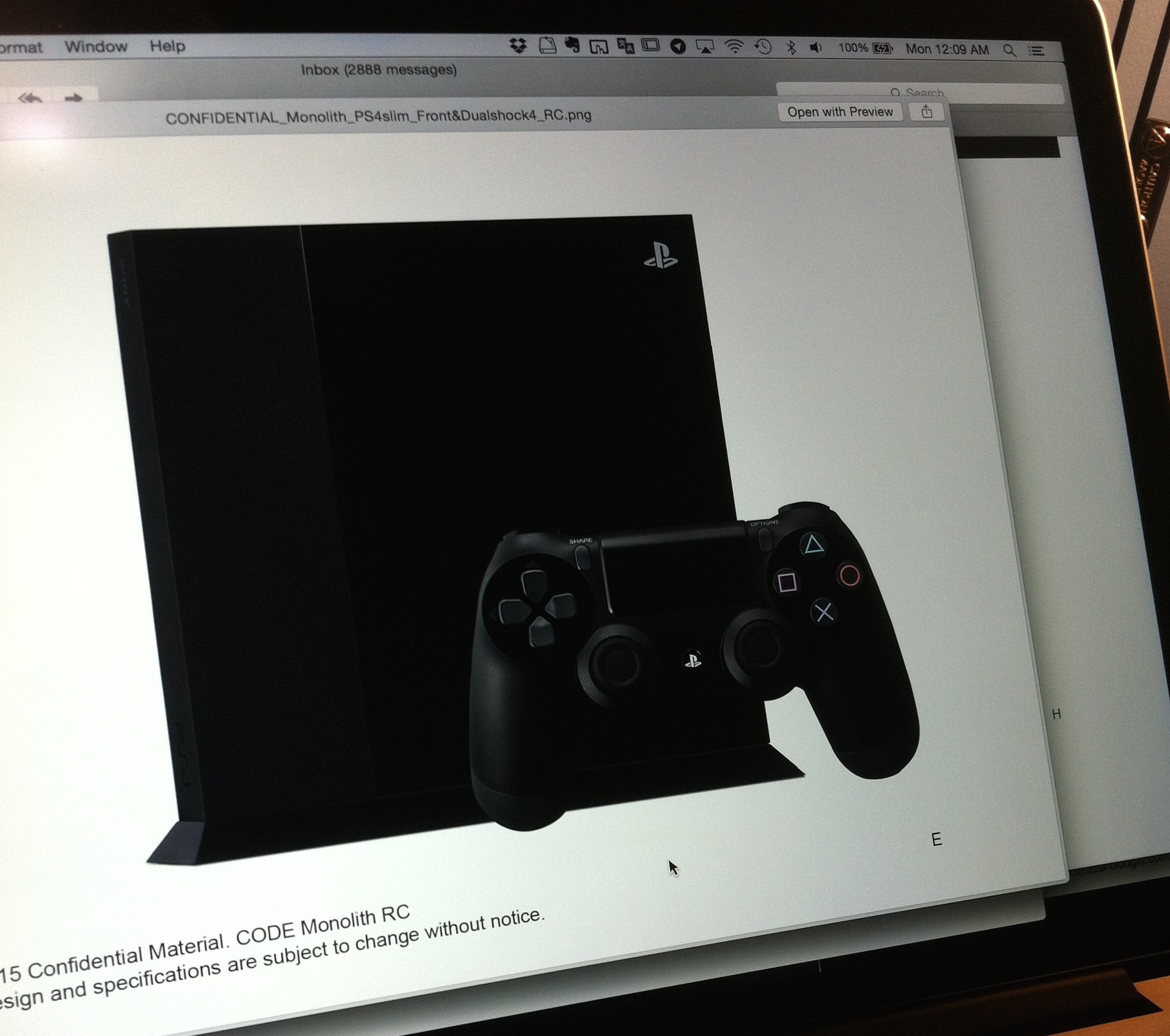 first actual image of ps4 slim model leaked pretty small