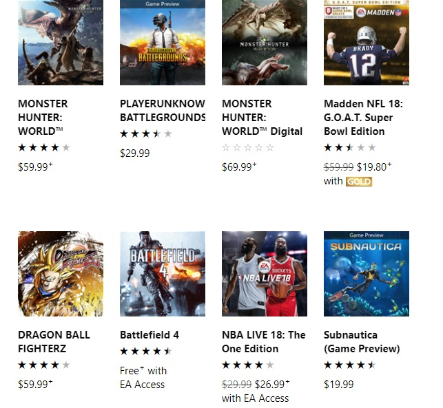 Monster Hunter World Beats Pubg Becomes Top Paid Xbox One