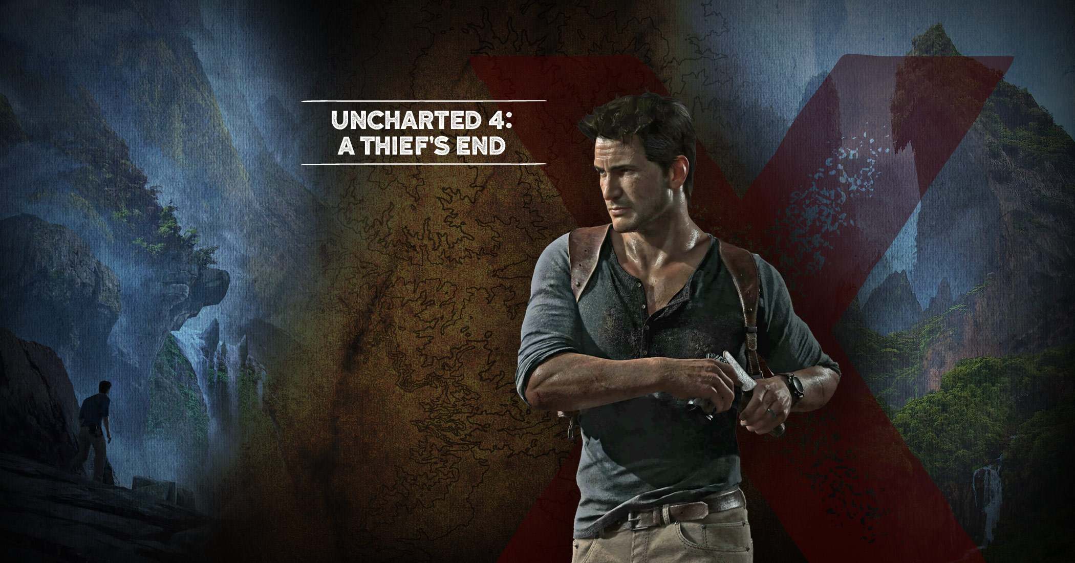 Uncharted 4 a thief 39 s end graces gi feb 2015 issue cover for Complete the mural uncharted 3