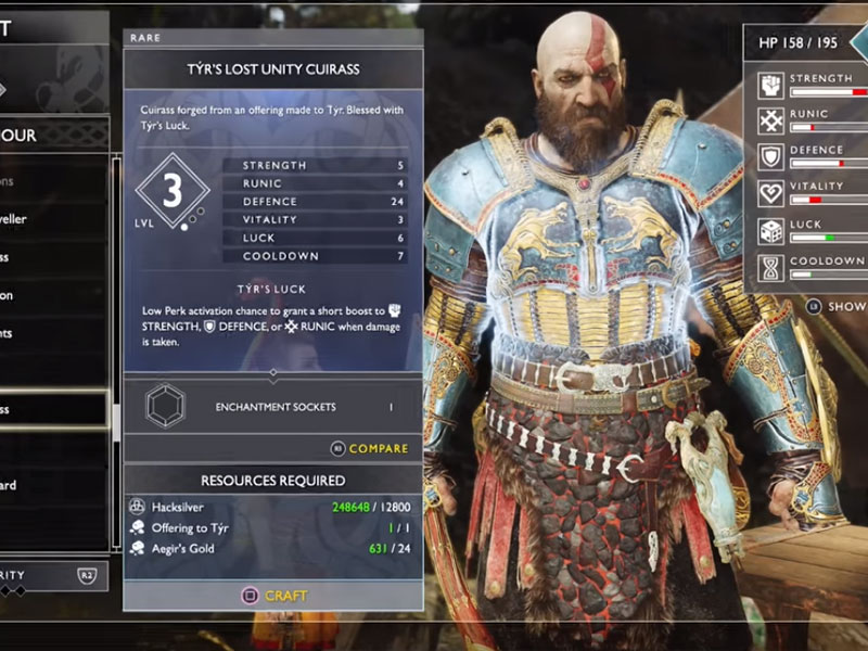 5 Best Armor Sets Location In God Of War & How To Unlock Them