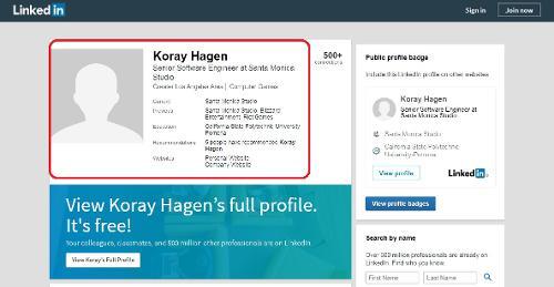 sony-santa-monica-developer-linkedin-profile-image