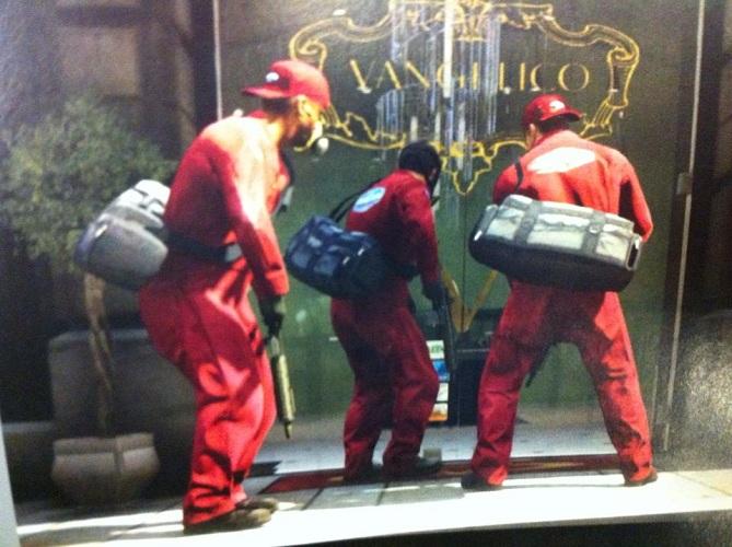 GTA V Bank Robbery Sequence Screen