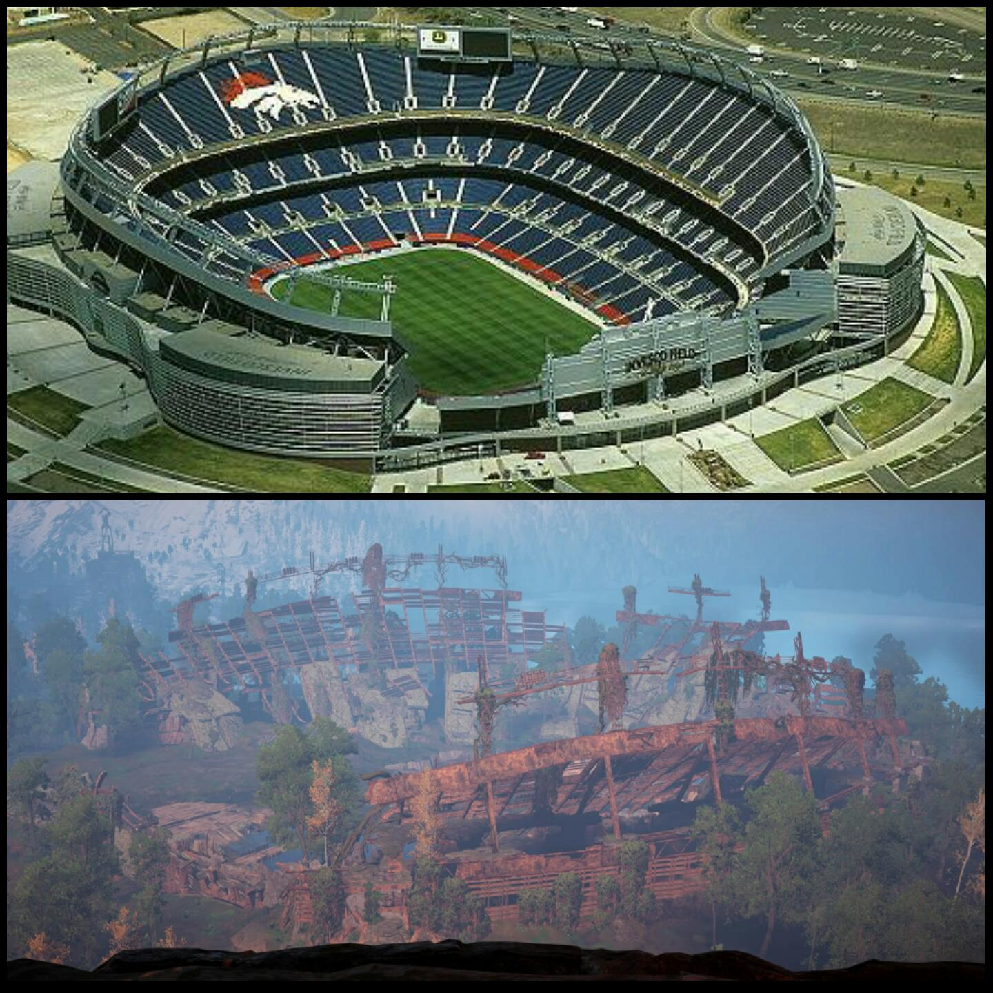 Horizon Zero Dawn Real Life Vs In Game Location Comparison
