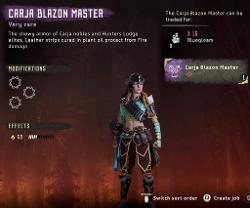 Frozen Wilds Carja Blazon Master Outfit
