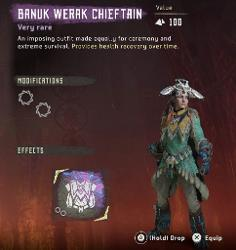 Frozen Wilds DLC Banuk Werak Chieftain Outfit