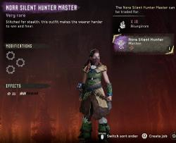 Frozen Wilds Nora Silent Hunter Master Outfit