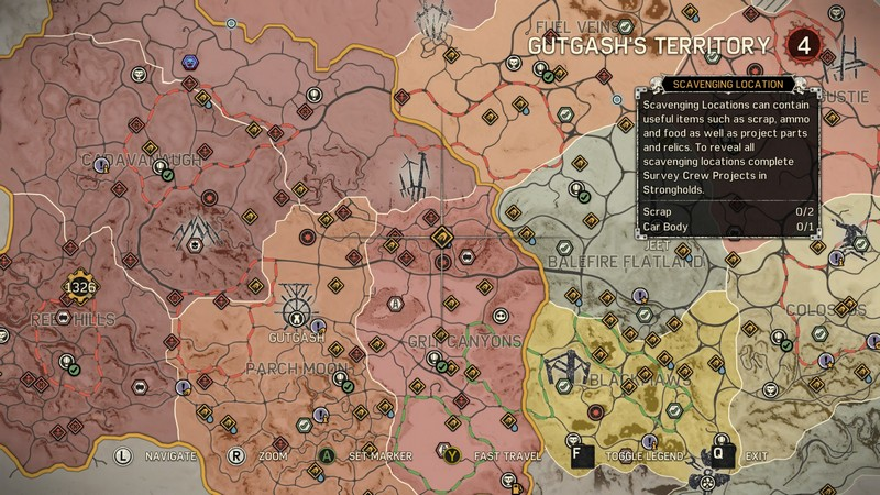 Mad Max: Where to find the Car Bos Location Guide Mad Max Game Map on battlefield 4 game map, the hunger games game map, grand theft auto game map, wasteland 2 game map, forza horizon 2 game map, far cry 4 game map, thief game map, dead island game map, assassin's creed unity game map, the dark knight rises game map,