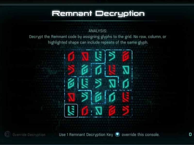 Mass Effect Andromeda All Remnant Puzzle Solutions