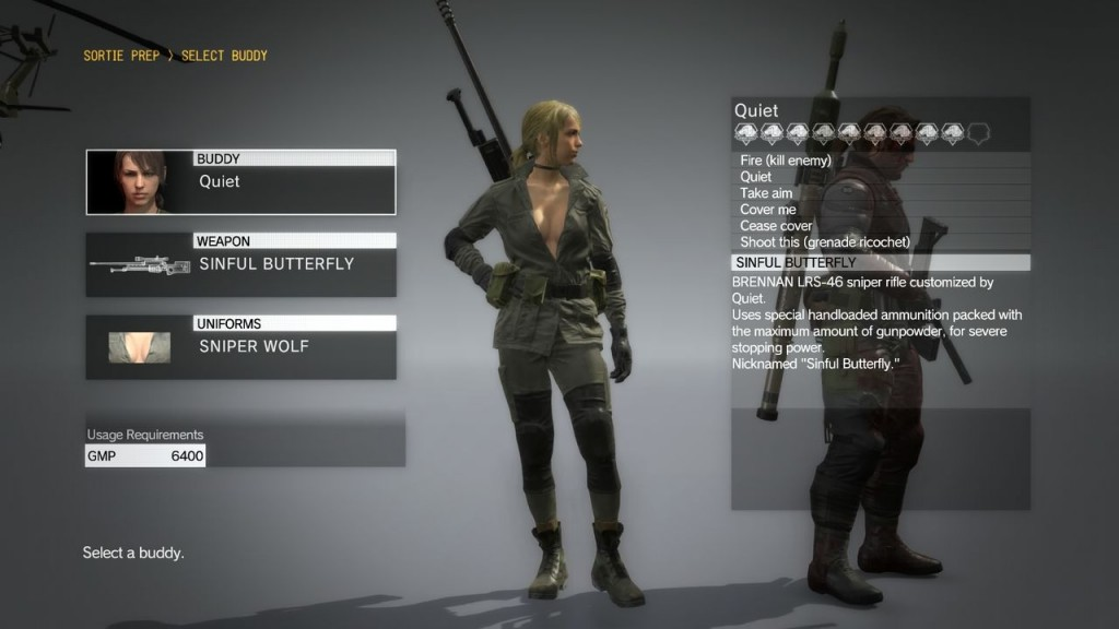 How to unlock the Sniper Wolf costume for Quiet in MGS V The Phantom Pain