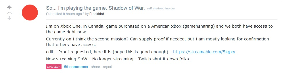 Middle-Earth: Shadow of War Leaked