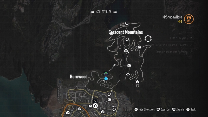 Need For Speed 2015 Collectables Map