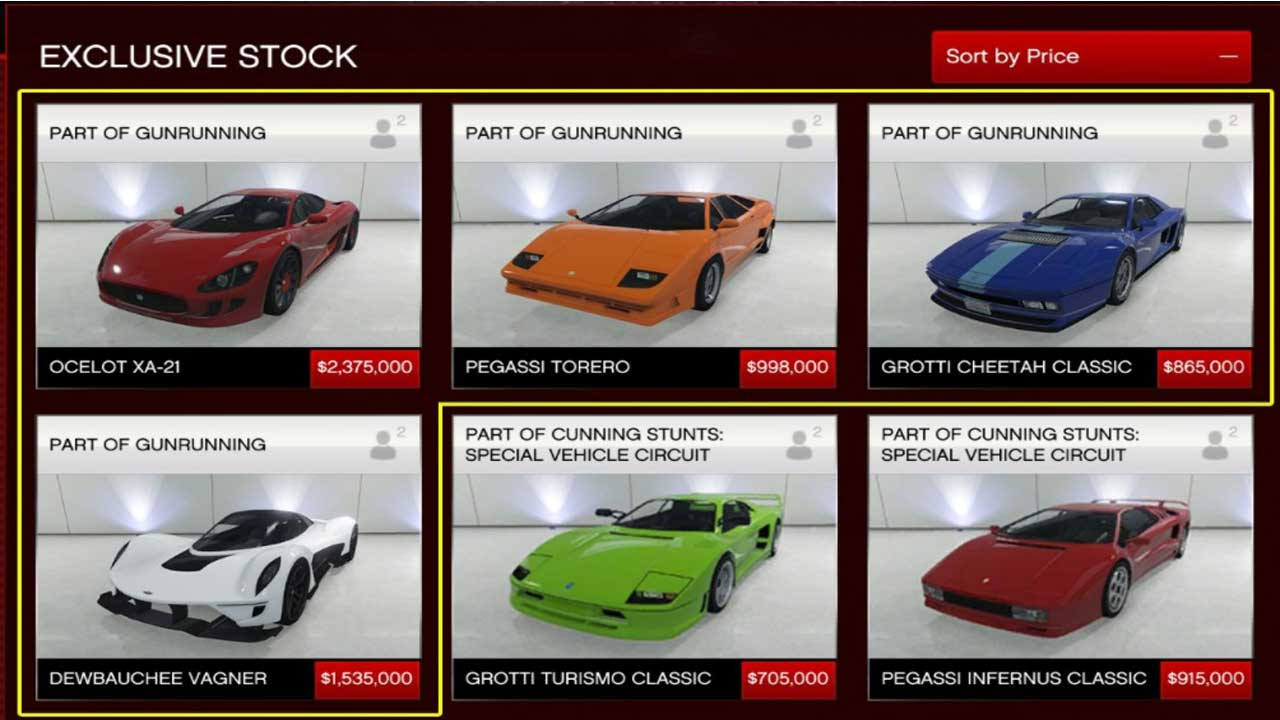 Gta  Online Cars And Prices
