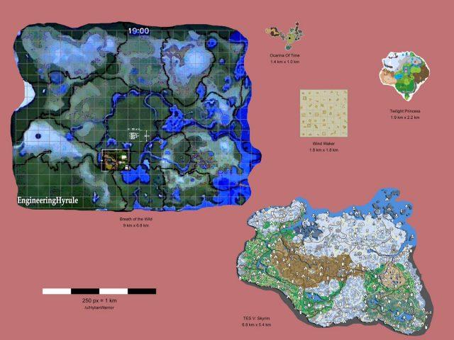 Zelda: Breath of the Wild Map comparison