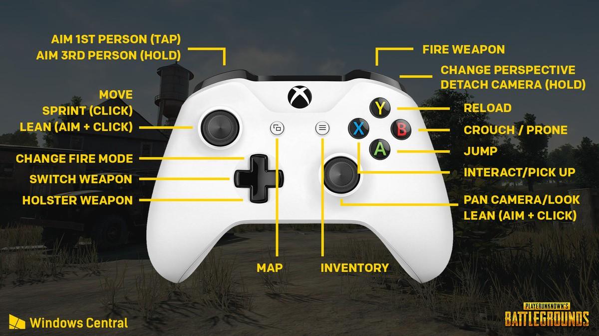Controles de PUBG Xbox One