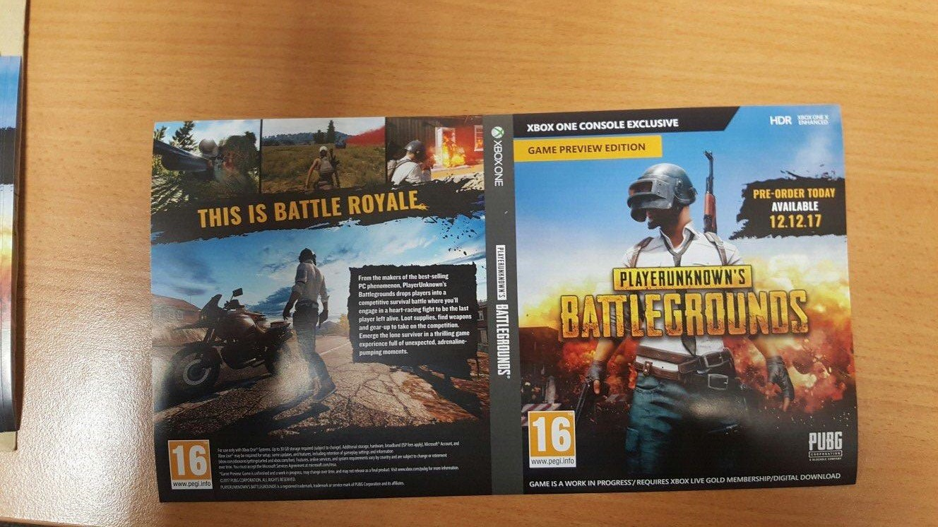 Pubg Hdr Xbox One X: PlayerUnknown's Battlegrounds Xbox One Box Art