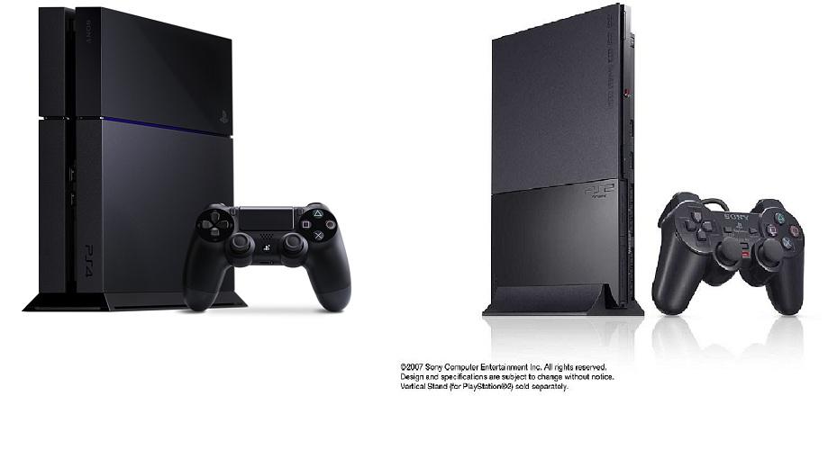 PS2 Slim vs PS4 Design Similarity
