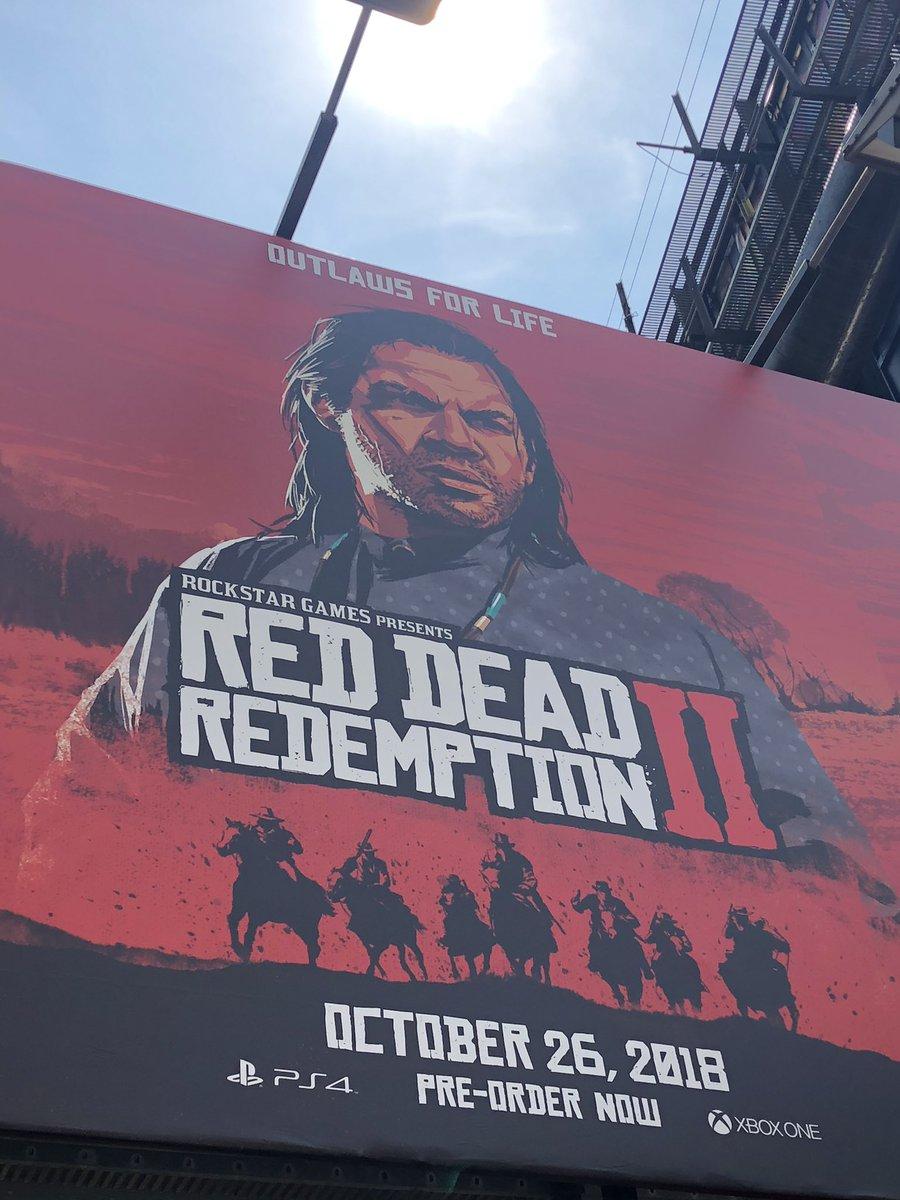 Red Dead Redemption II Billboard Featuring John Marston