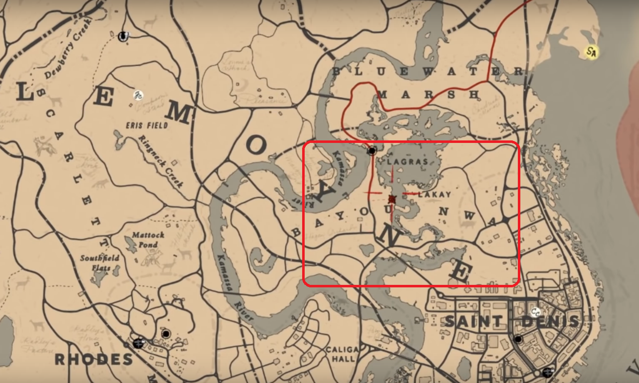 Where To Find The Legendary Alligator Location | Red Dead