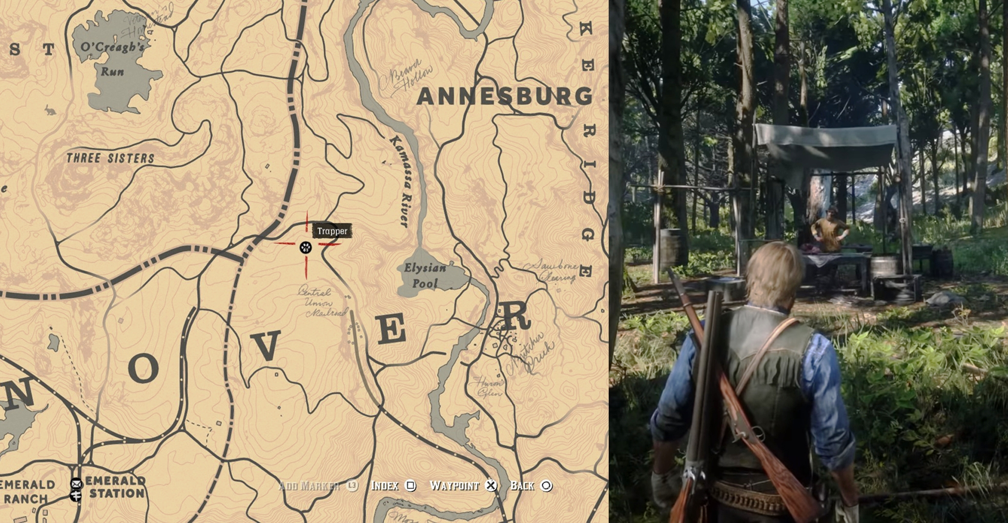 Rdr2 Karte Pdf.Red Dead Redemption 2 Trapper Locations With Map Image