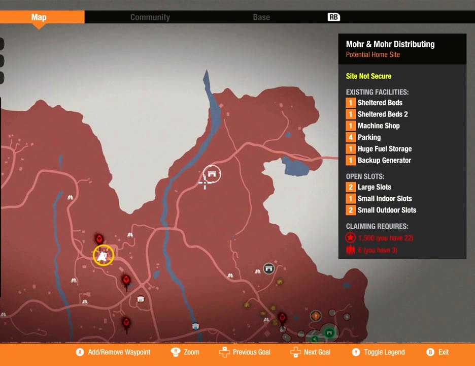 State of Decay Base Locations Guide