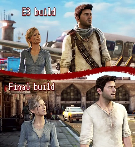 Uncharted 3 Retail vs E3 Build Comparison 2